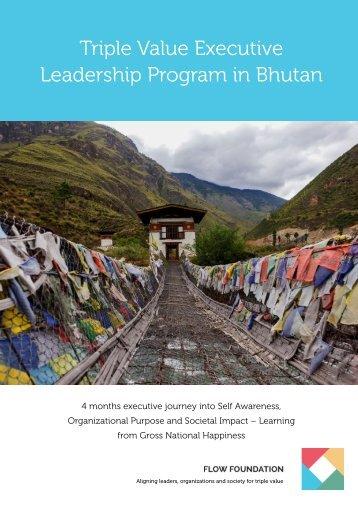 Triple Value Executive Leadership Program in Bhutan