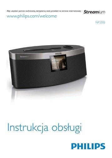 Philips Streamium Lecteur audio sans fil - Mode d'emploi - POL