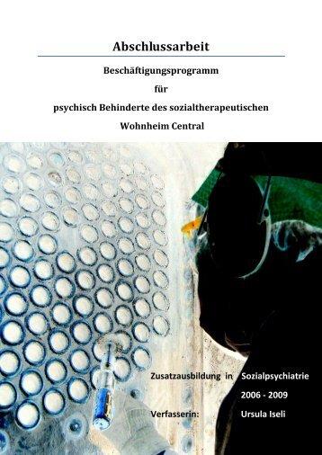 (SGSP) 2006 – 2009 Zusatzausbildung in Sozialpsychiatrie ... - Insos