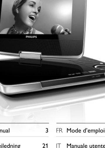 Philips Lecteur de DVD portable - Mode d'emploi - ITA
