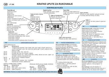 KitchenAid JT 358 alu - Microwave - JT 358 alu - Microwave HR (858735899640) Scheda programmi