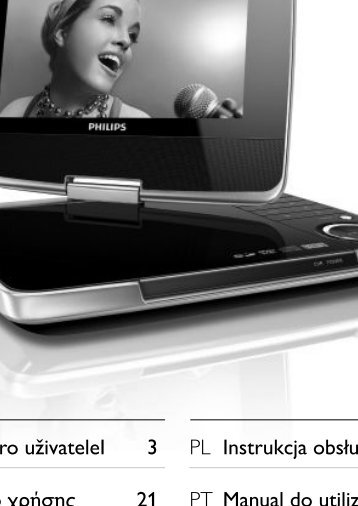 Philips Lecteur de DVD portable - Mode d'emploi - SLK