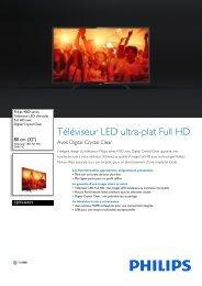 Philips TV LED Philips 32PFH4101 200Hz PMR - fiche produit
