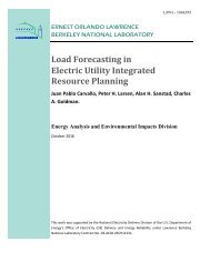 Load Forecasting in Electric Utility Integrated Resource Planning