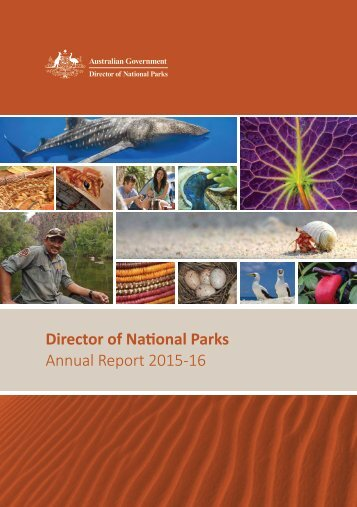 Director of National Parks Annual Report 2015-16