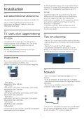 Philips 6500 series Téléviseur LED plat Full HD avec Android™ - Mode d'emploi - SWE - Page 6