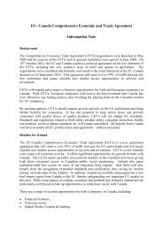 EU- Canada Comprehensive Economic and Trade Agreement Information Note