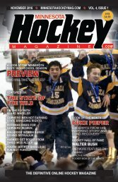 Minnesota Hockey Magazine for Nov. 2016 (volume 4, issue 1)