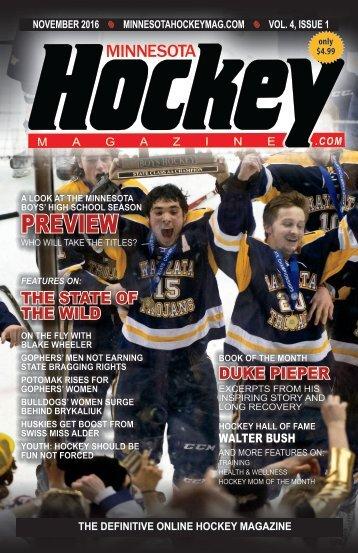 Minnesota Hockey Magazine for Nov. 2016 (volume 4, issue 1)