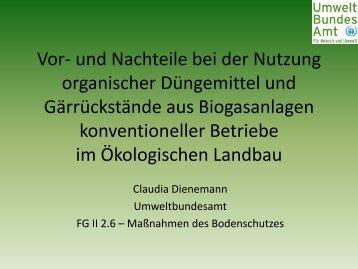 Vor- und Nachteile bei der Nutzung organischer ... - (BUND) Sachsen