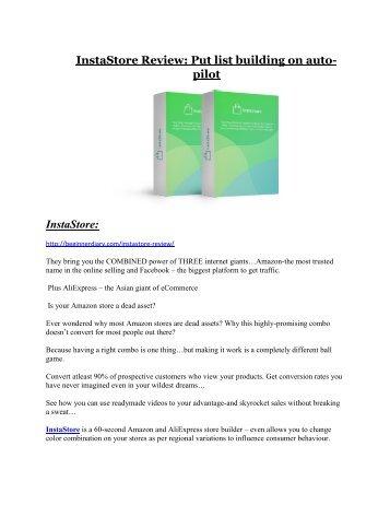 InstaStore review-(SHOCKED) $21700 bonuses