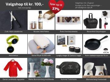 Samlet - Valgshop kr 100