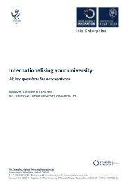 Internationalising your university