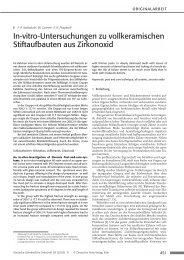 In-vitro-Untersuchungen zu vollkeramischen ... - Zahnheilkunde.de