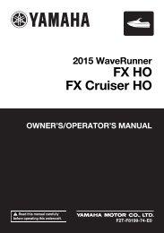 Yamaha FX HO Cruiser - 2015 - Manuale d'Istruzioni English
