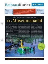 Rathauskurier 09 2009 - Stadt Weimar
