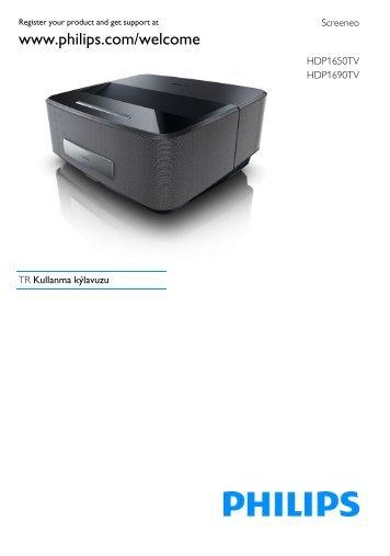 Philips Projecteur LED intelligent Screeneo - Mode d'emploi - TUR