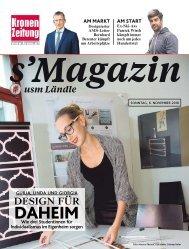 s'Magazin usm Ländle, 6. November 2016