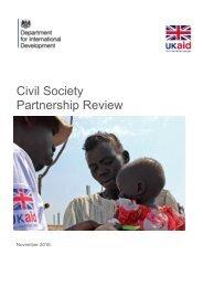 Civil Society Partnership Review