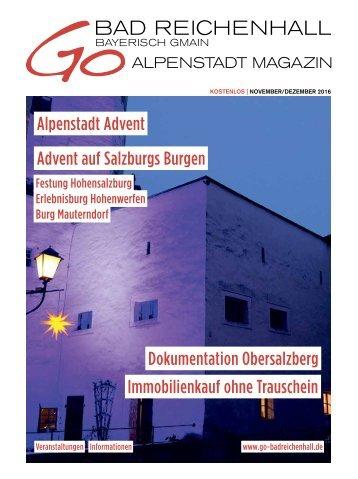 GO BADREICHENHALL | NOVEMBER/DEZEMBER 2016