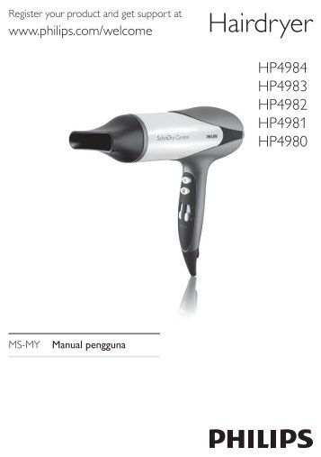 Philips SalonDry Control Sèche-cheveux - Mode d'emploi - MSA