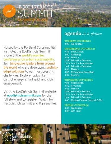 agenda at-a-glance - 2030 District