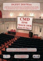DGFDT 2010 Wien - Deutsche Gesellschaft für Funktionsdiagnostik ...