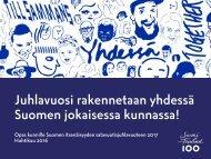 Juhlavuosi rakennetaan yhdessä Suomen jokaisessa kunnassa!