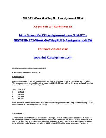fin 571 week 6 Acc 561 accounting week 1 to 6, assignment, wilyplus, dq, final  fin 571  week 6 final working capital simulation quiz (06 questions and answers.
