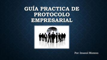 manual de protocolo empresarial.