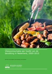 Vleesconsumptie per hoofd van de bevolking in Nederland 2005-2015
