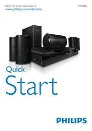Philips Home Cinéma 5 enceintes - Guide de mise en route - SRP