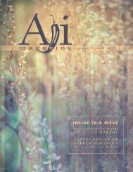 Editor in Chief Editorial Staf Art / Publication Design