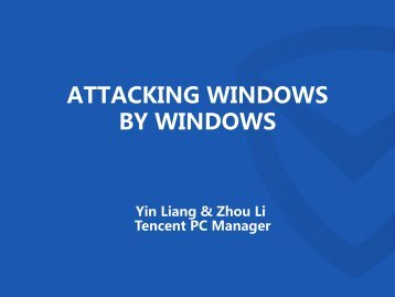 ATTACKING WINDOWS BY WINDOWS