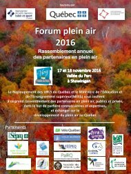 Forum plein air 2016
