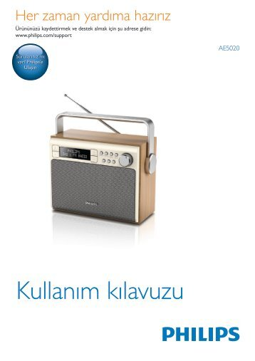 Philips Radio portable - Mode d'emploi - TUR
