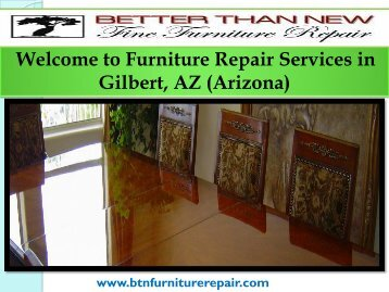 Furniture Repair Mesa| Better Than New