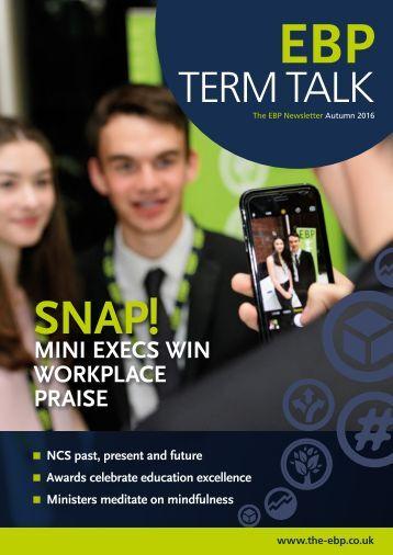 EBP Term Talk Newsletter Autumn 2016 WEB