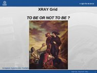 XRAY Grid TO BE OR NOT TO BE ? - Desy
