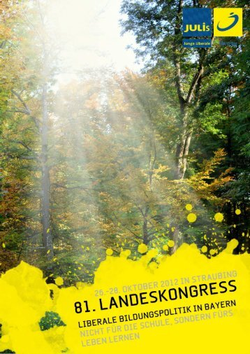 Antragsbuch Straubing - JuLis Bayern