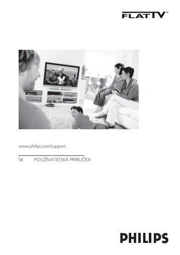 Philips Téléviseur à écran large - Mode d'emploi - SLK
