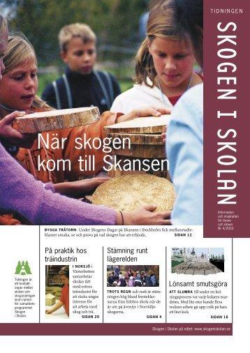 Fäll ett träd - Skogen i Skolan