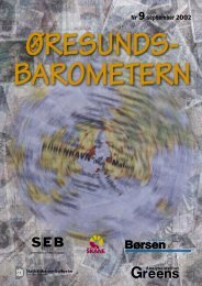 Öresundsregionen Ny opgang indledt i Øresundsregionen - Børsen