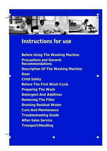KitchenAid EXCELLENCE SILENCE 1400 - Washing machine - EXCELLENCE SILENCE 1400 - Washing machine EN (858355203000) Istruzioni per l'Uso