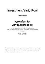 Investment Vario Pool - IVP Kapital AG