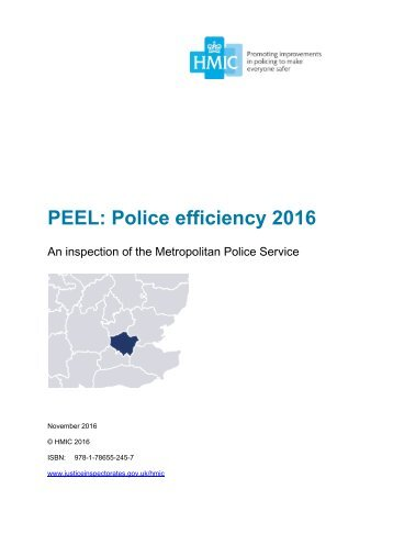 PEEL Police efficiency 2016