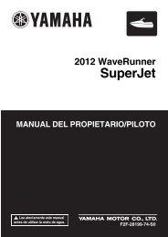 Yamaha Superjet - 2012 - Manuale d'Istruzioni Español