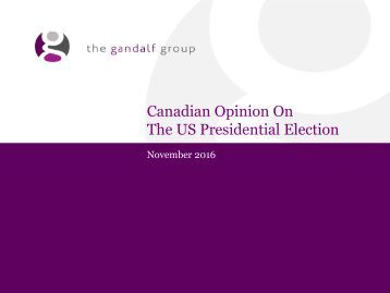 The US Presidential Election