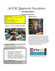 ACCSC Quarterly Newsletter