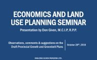 ECONOMICS AND LAND USE PLANNING SEMINAR